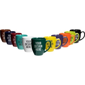 Bistro Glossy Coffee Mugs (16 Oz., Colors)