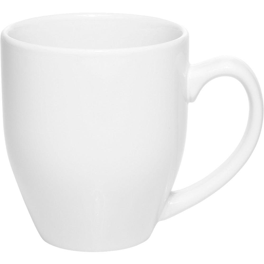 Bistro Glossy Coffee Mug (16 Oz., White)