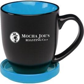 Bistro Two-Tone Ceramic Mug with Coaster (16 Oz.)