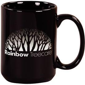 Black Pinehurst Ceramic Mug (15 Oz.)