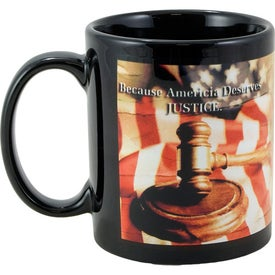 Imprinted Black Sublimation Mug