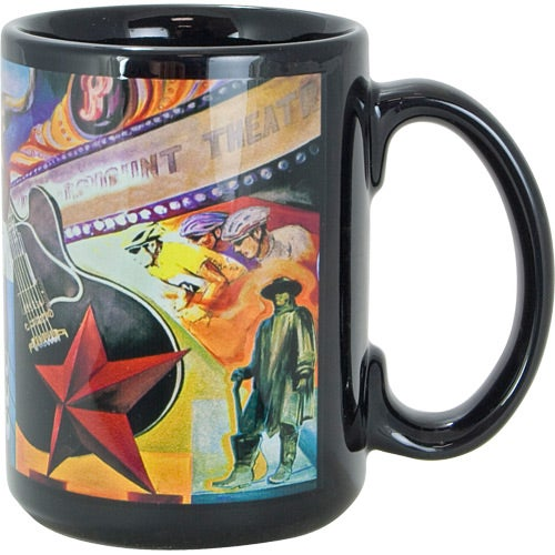 Black Sublimation Mug 15 Oz Full Color Custom
