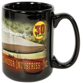 Black Sublimation Mug (15 Oz., Full Color)
