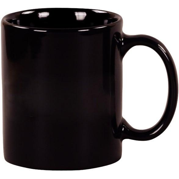 Matte Barrel Ceramic Mug (16 Oz.) | Custom Ceramic Mugs ...  |Black Stoneware Pottery Mug
