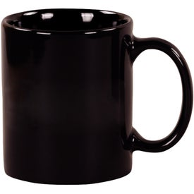 Black Windstone Ceramic Mug Printed with Your Logo