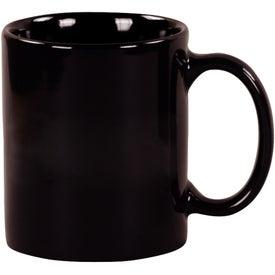 Black Windstone Ceramic Mug Printed with Your Logo