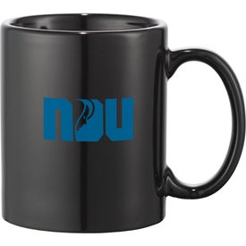 Bounty Ceramic Mug (11 Oz., Navy Blue and Black)