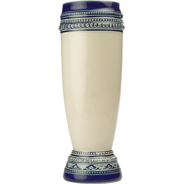 Tan / Blue Bremen Ceramic Pilsner Beer Mug