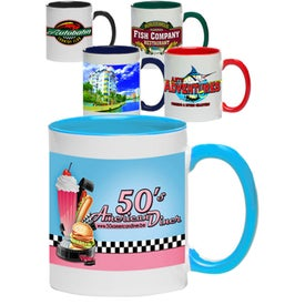 Bright Two-Tone Sublimation Mugs (11 Oz.)