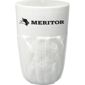 Personalized Cable Knit Ceramic Tumbler