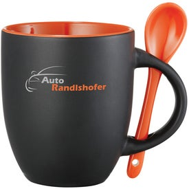 Canyon Ceramic Mug with Spoon for Your Church