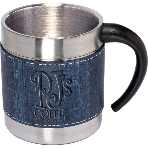 Blue / Stainless Steel Casablanca Coffee Cup