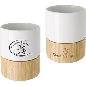 Ceramic and Bamboo Mug