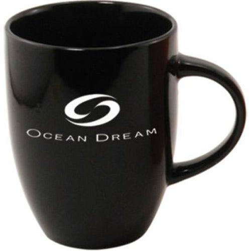 Black Ceramic Coffee Mug 10 Oz Advertising