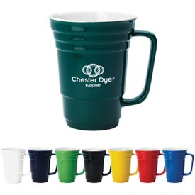 Ceramic Cup (14 Oz., Standard Colors)