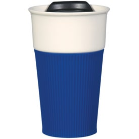 Ceramic Mug with Silicone Accent for Your Company