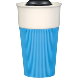 Promotional Ceramic Mug with Silicone Accent