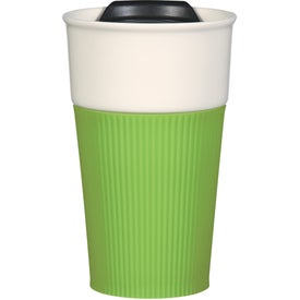 Ceramic Mug with Silicone Accent Imprinted with Your Logo
