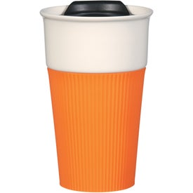 Ceramic Mug with Silicone Accent for Marketing