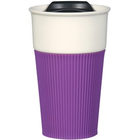 Ceramic Mug with Silicone Accent for Promotion