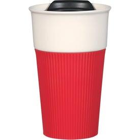Logo Ceramic Mug with Silicone Accent
