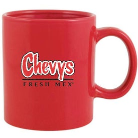 C-Handle Ceramic Mug (20 Oz., Red)