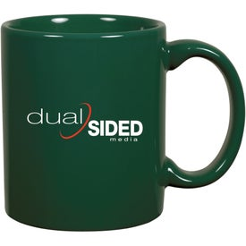 Monogrammed C-Handle Ceramic Mug
