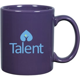 C-Handle Ceramic Mug Branded with Your Logo