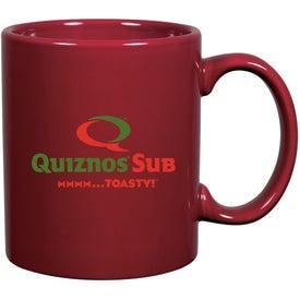 Branded C-Handle Ceramic Mug