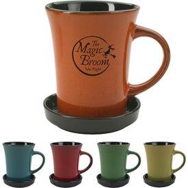 2 Piece Coaster Mug Printed with Your Logo