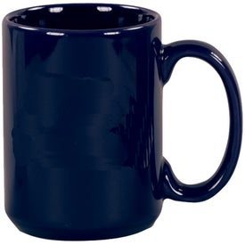Cobalt Blue Pinehurst Ceramic Mug Imprinted with Your Logo