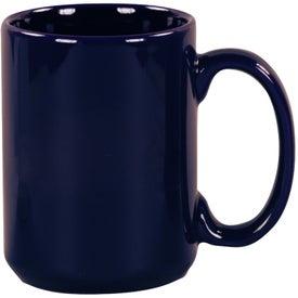 Cobalt Blue Pinehurst Ceramic Mug for Advertising