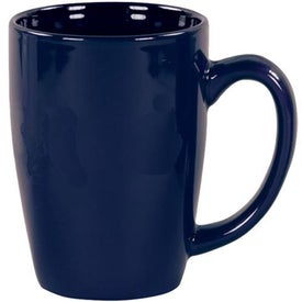 Imprinted Cobalt Blue Riviera Ceramic Mug