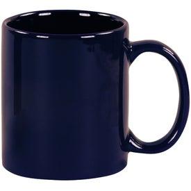 Cobalt Blue Windstone Ceramic Mug with Your Slogan