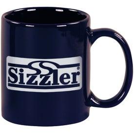 Cobalt Blue Windstone Ceramic Mug Branded with Your Logo
