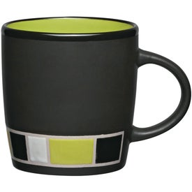 Color Block Ceramic Mug for Customization