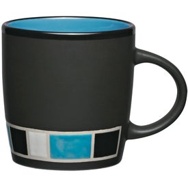 Color Block Ceramic Mug with Your Slogan