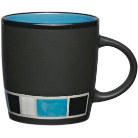 Color Block Ceramic Mug with Your Slogan