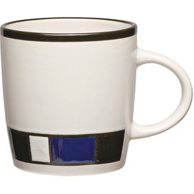 Monogrammed Color Block Ceramic Mug