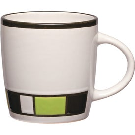 Color Block Ceramic Mug for Advertising