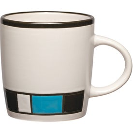 Advertising Color Block Ceramic Mug