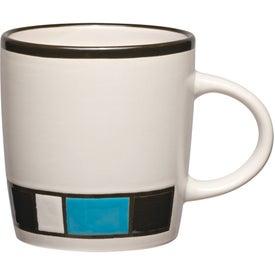 Advertising Color Block Ceramic Mug