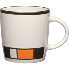 Imprinted Color Block Ceramic Mug