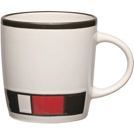 Customized Color Block Ceramic Mug