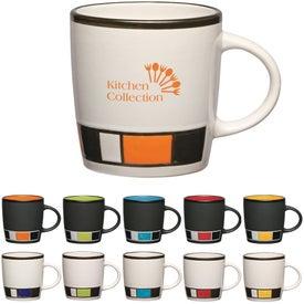 Monogrammed Color Block Ceramic Mug