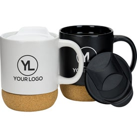 Cork Base Ceramic Mug (14 Oz.)
