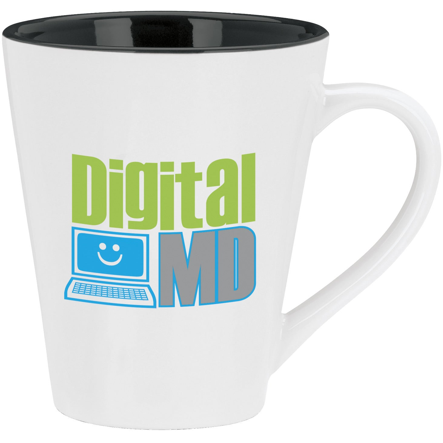 promotional 14 oz designer two tone mugs with custom logo for 3 08 ea