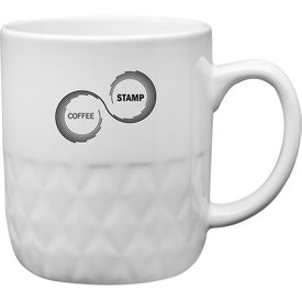 Diamond Ceramic Mug (16 Oz., White)