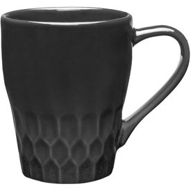 Diamond Cut Ceramic Mug (13 Oz., Ink Imprint)