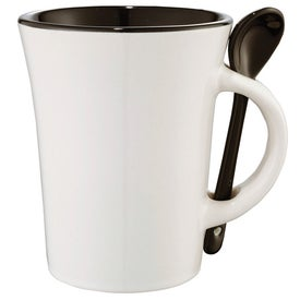 Customized Dolce Ceramic Mug with Spoon